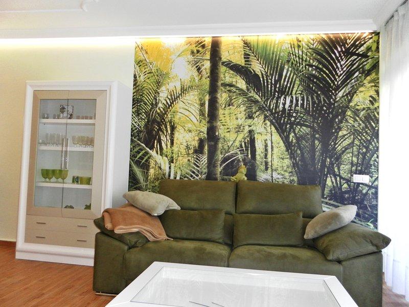 high-quality sofa and high-quality LED lighting