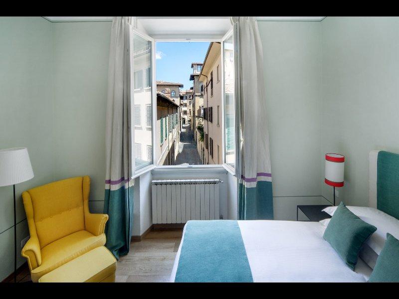 1 dormitorio, con excelentes vistas sobre el centro histórico de la ciudad