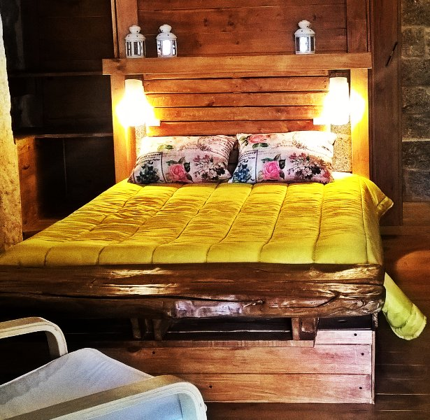 Bed room of the Big House, in the Sierra Pouso.
