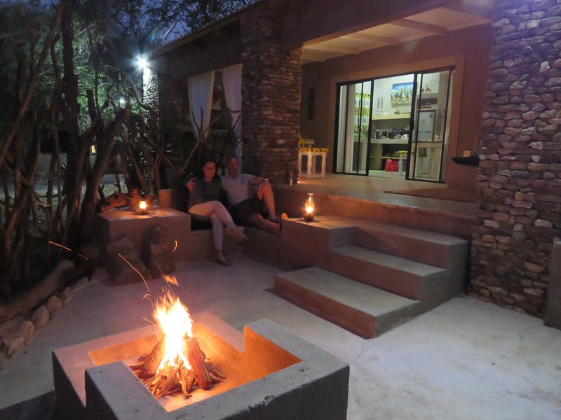Evening Fire in Private Boma