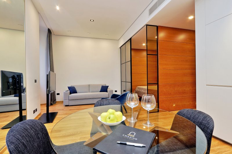 the spacious dining room where you can enjoy your meals