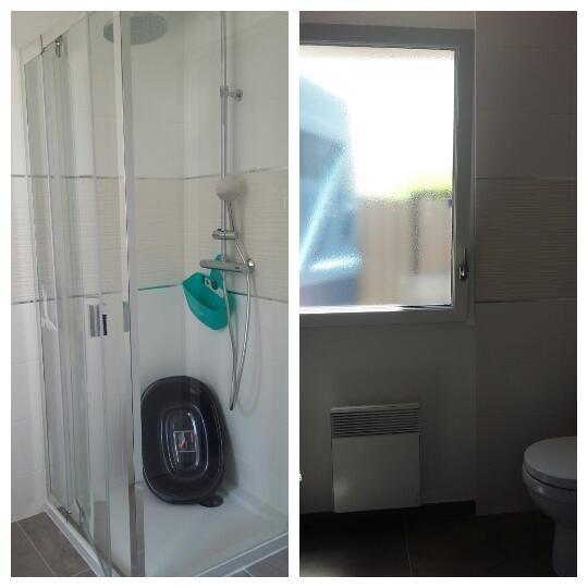 Toilet / shower, washing machine