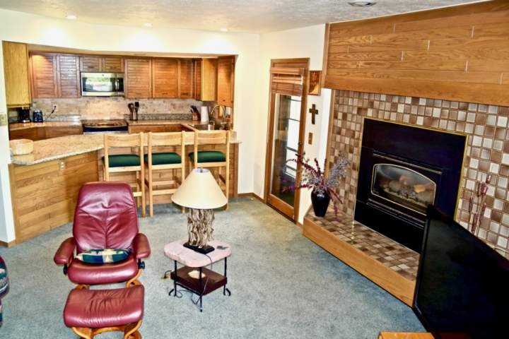 Roomy Living Area With Gas Fireplace
