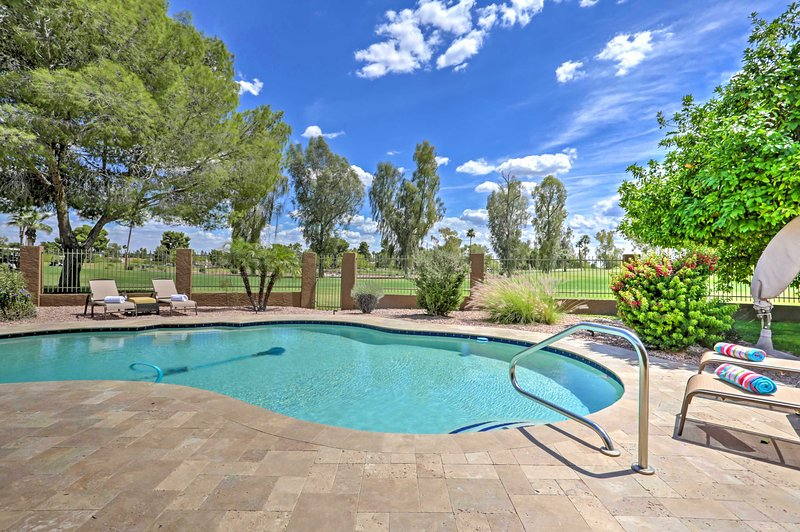 Splash around in the private pool, right in your backyard!