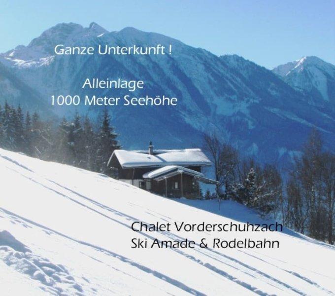 Inverno em Vorderschuhzach - casa e arredores na direção sul