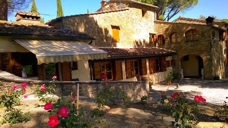 Villa Luna and stones facade