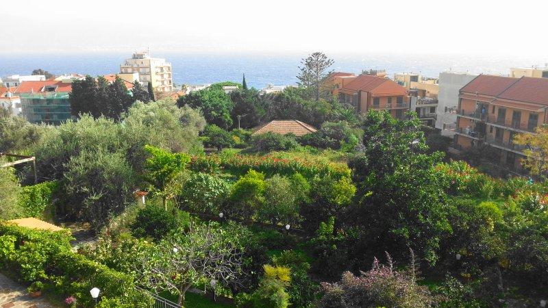La villa rodeada de verde
