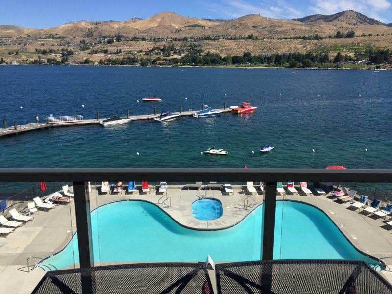 Enjoy pool access and awesome views from this lovely Chelan vacation rental home!