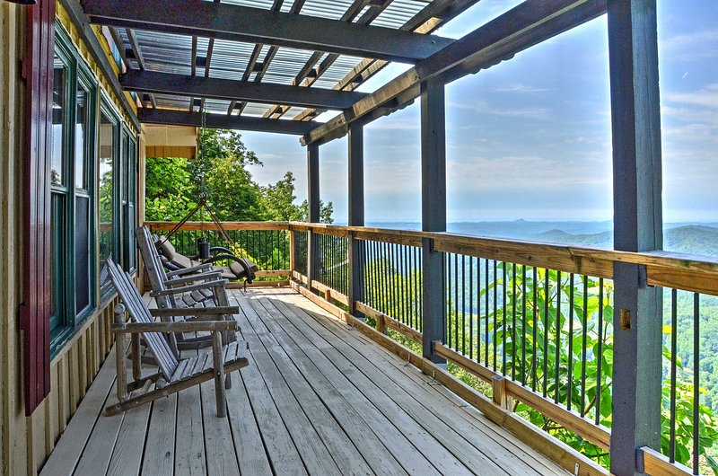Relax and reconnect with family and friends at 'Un-Fore-Gettable,' a 3-bedroom, 2-bathroom Clayton vacation rental cabin.