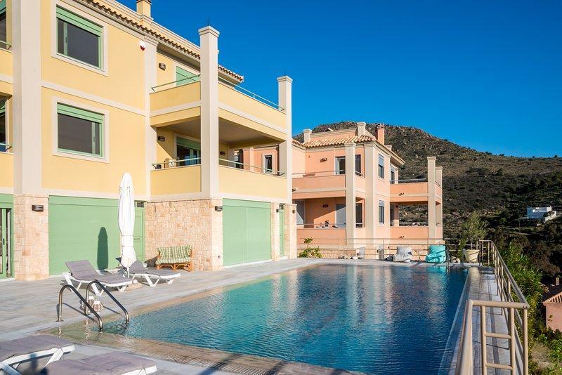 Aeginitissa House 'Nephele' - Aegina Island - Amazing sea mountain sunset view, vacation rental in Saronic Gulf Islands