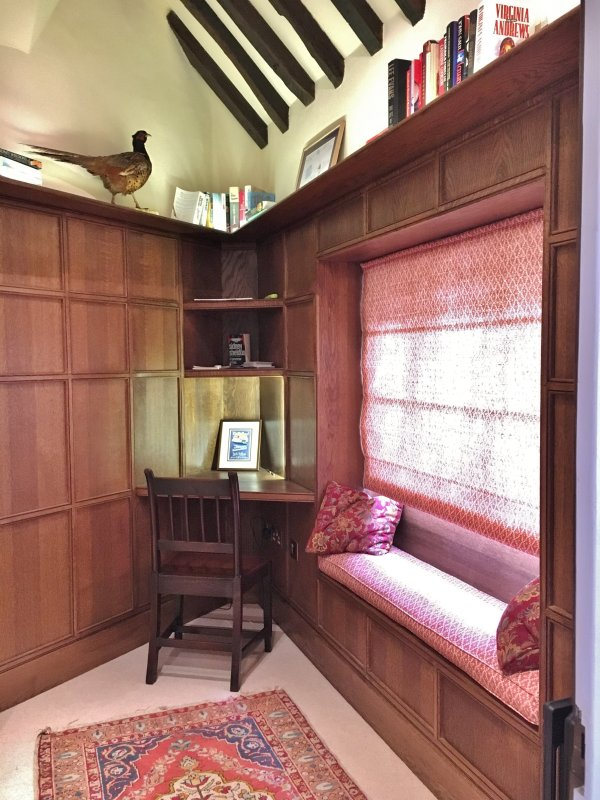 Oak paneled den