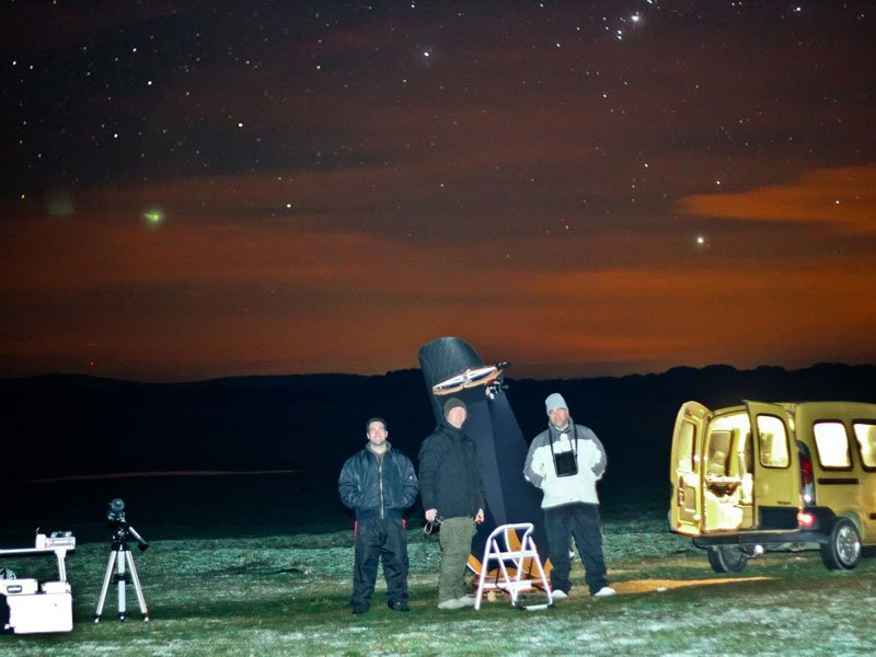 Astronomía en cielo oscuro