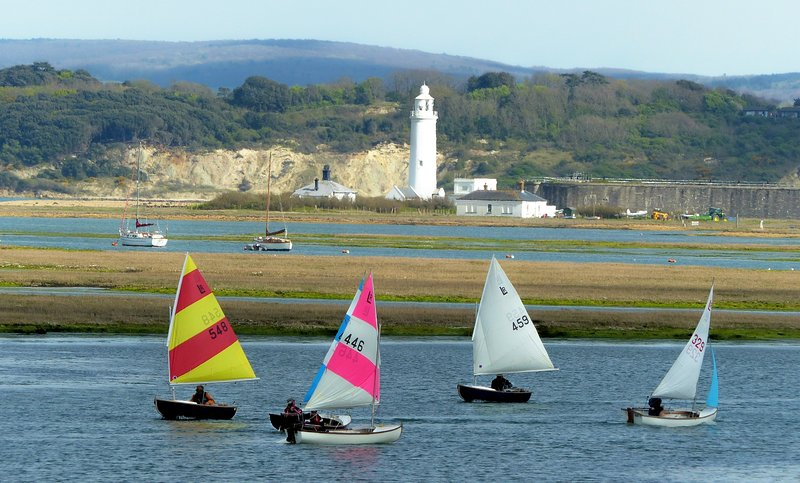 Colourful views to Hurst Castle and the Isle of Wight