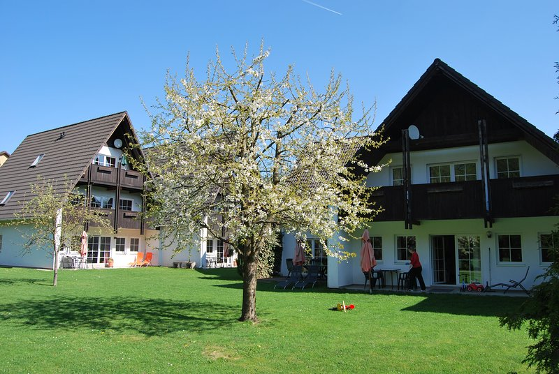 Holiday resort from the garden