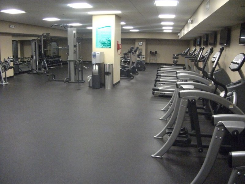 exercise room on site