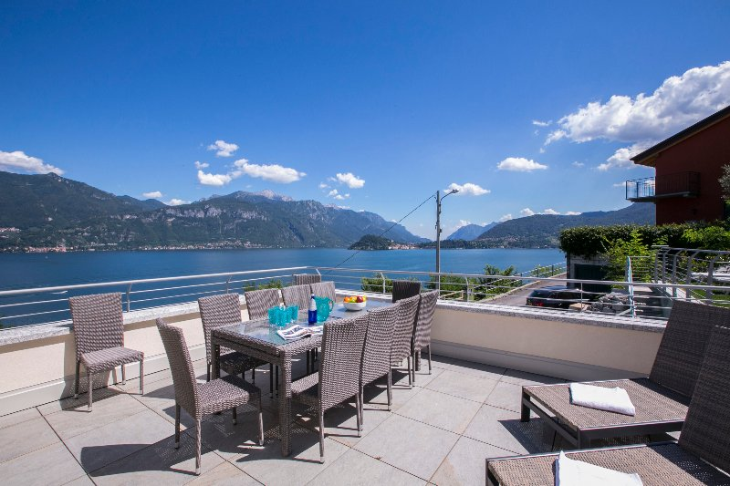 View of the lake and town of Bellagio from the property terrace