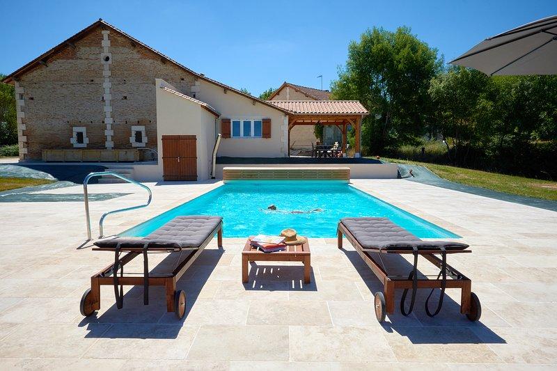 Beautiful heated salt water pool.