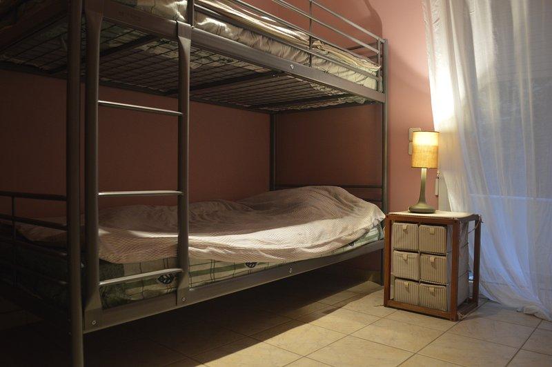 third bedroom with bunk