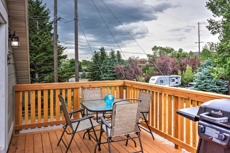 Enjoy fresh Montana air outside on the private balcony.