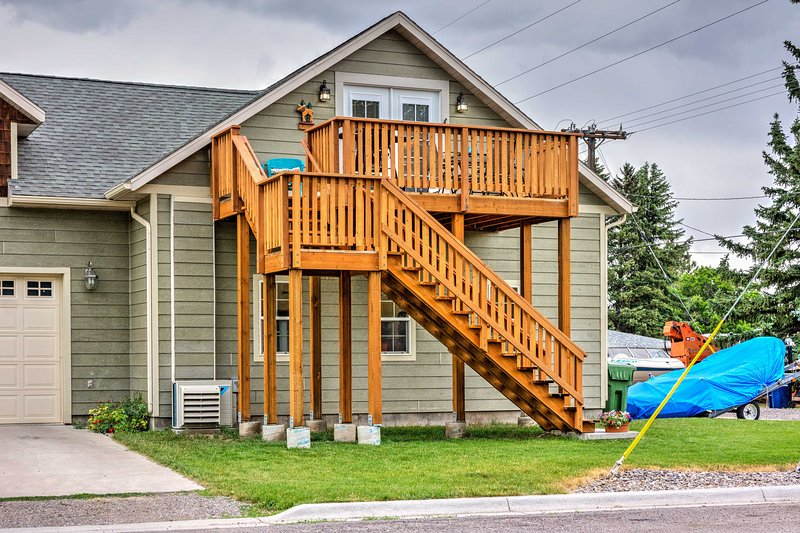 The apartment is on the second story of the guest house, providing a private getaway during your Montana vacation!