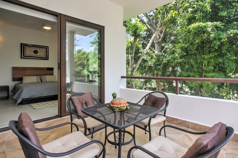 This stunning 2-bedroom, 2-bathroom vacation rental apartment is nestled in the trees of the Tao community, offering extensive amenities and access to world-renowned beaches.
