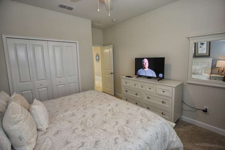 Downstairs King Bedroom W/Flat Screen TV - View #2