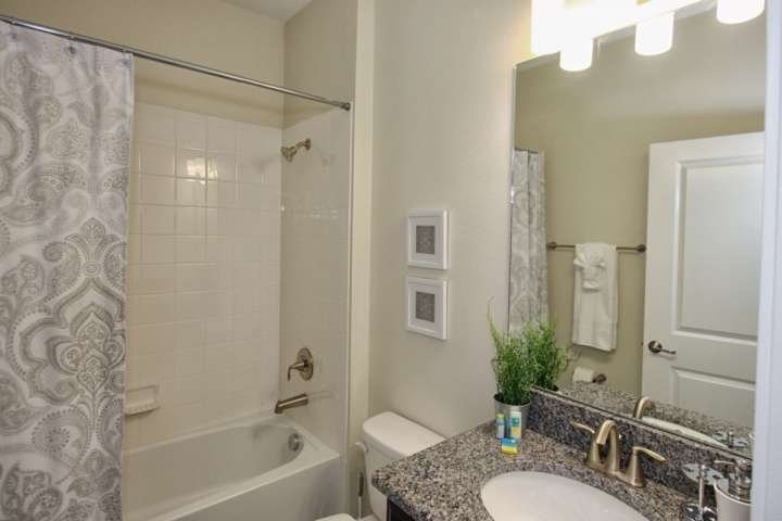 Downstairs Common Hall Bath w/Shower & Tub Combination