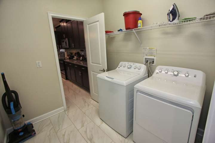 Downstairs Laundry Room w/Full Size Washer & Dryer