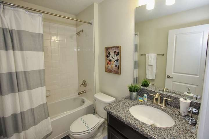 Upstairs Common Hall Bath w/Shower & Tub Combination