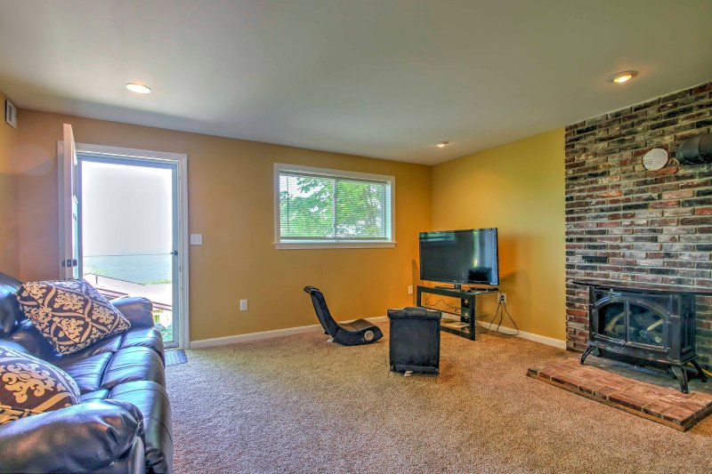 An additional living room is a great play space.