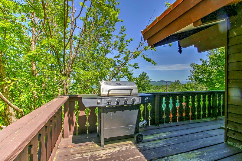 Grill up a fresh meal for your group and take in the stunning views from this expansive deck.