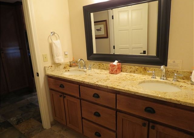 Double sinks off west king master bedroom.