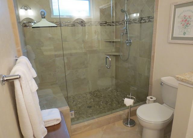 Amazing and spacious master suite shower.