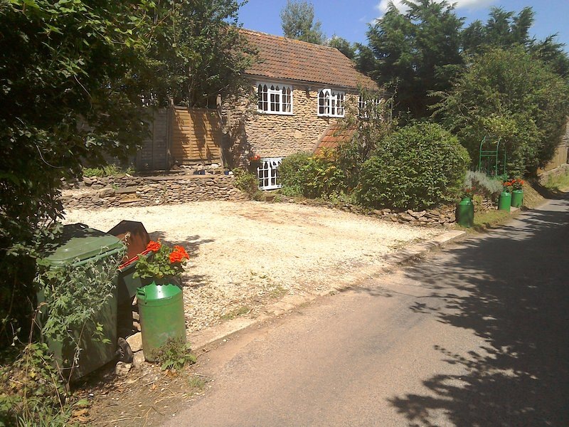 Detached country cottage with ample parking for 3 cars
