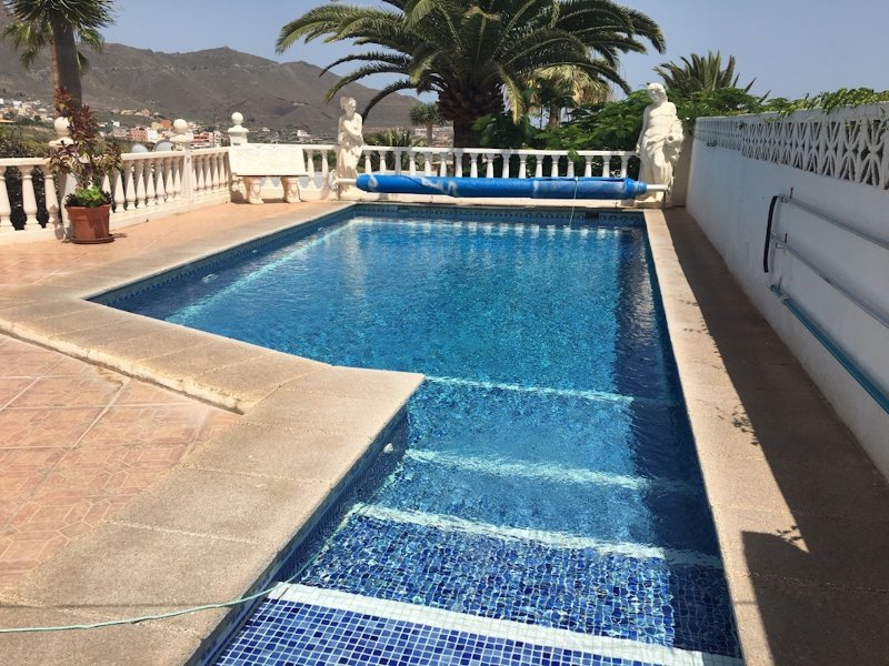 Your own private south facing pool with views to sea
