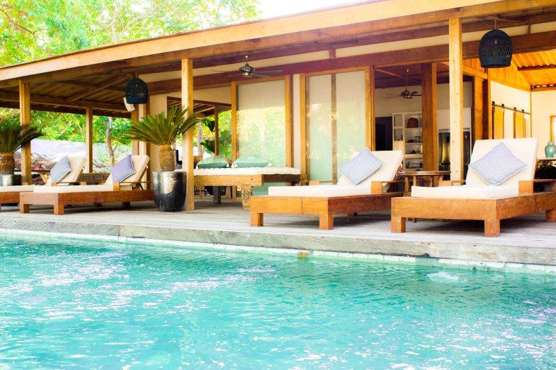 pool deck sun lounging