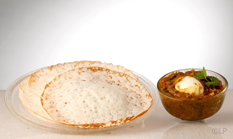 Appam & Egg Curry