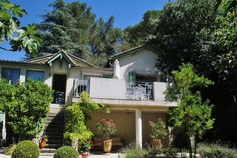 Facade of house from garden