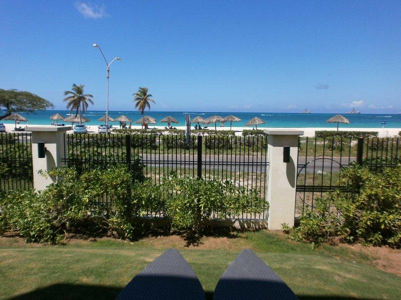 BEACHFRONT - EAGLE BEACH - OCEANIA RESORT - Ocean Extravaganza 2BR condo - E121-, vacation rental in Aruba