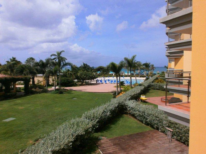 BEACHFRONT - EAGLE BEACH - OCEANIA RESORT - Superior View 2BR condo - E225-2, vacation rental in Aruba