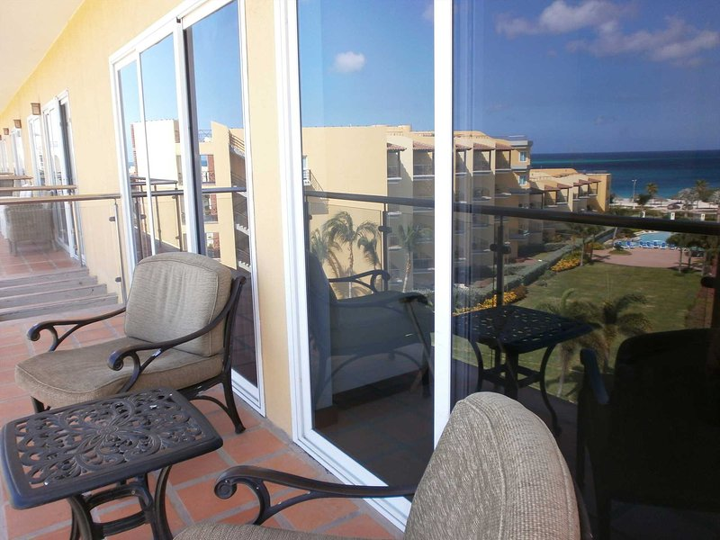 Your ocean view balcony stretching across living and master bedroom