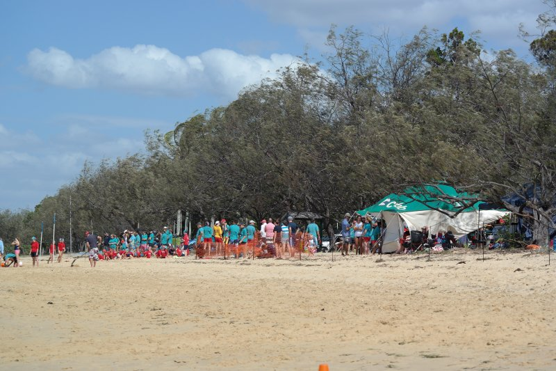 Life Savers patrol the Main Beach between Jetty and Barge ramp.