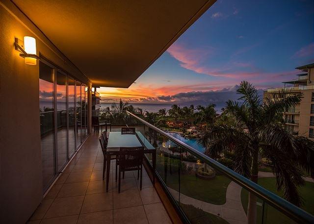 Lanai View bij zonsondergang