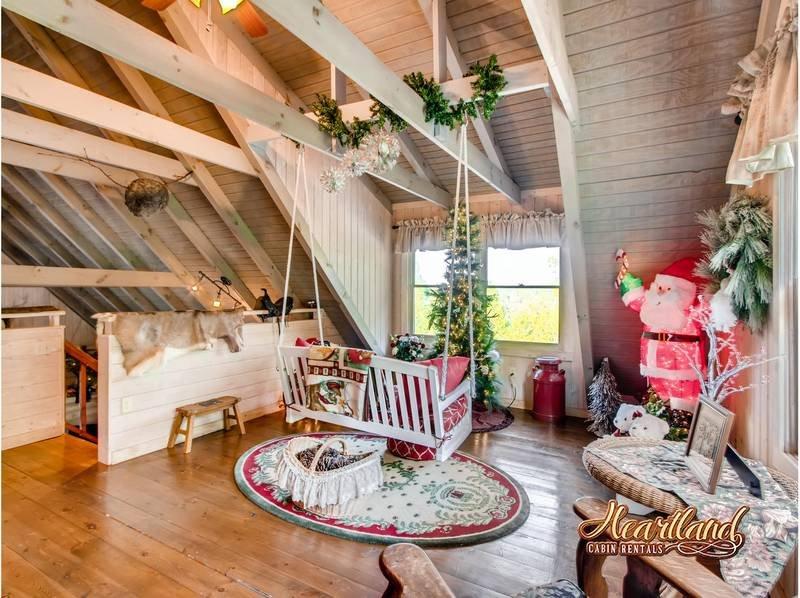Christmas themed Loft Area