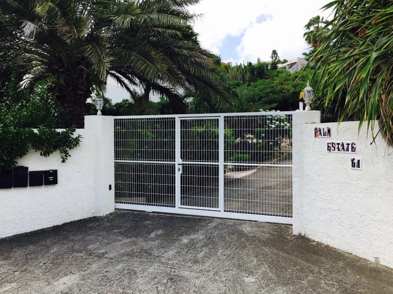 Privately gated and secure entrance for privacy and peace of mind with two reserved parking spaces.