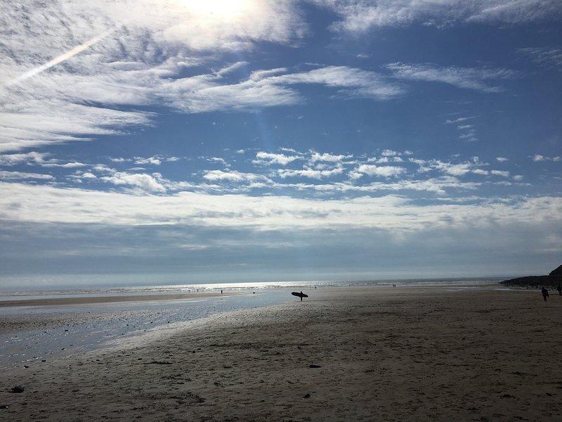 Corffe está a sólo 10 minutos de la impresionante costa norte de Devon