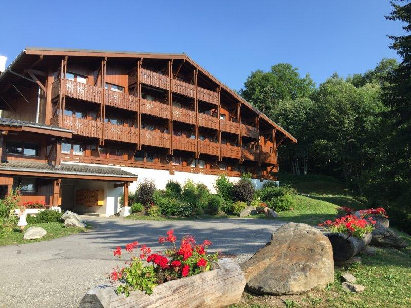 Megève - Appartement 2 ch. (proche centre) - Wifi - Jolie vue - Cadre idyllique, alquiler vacacional en Megève