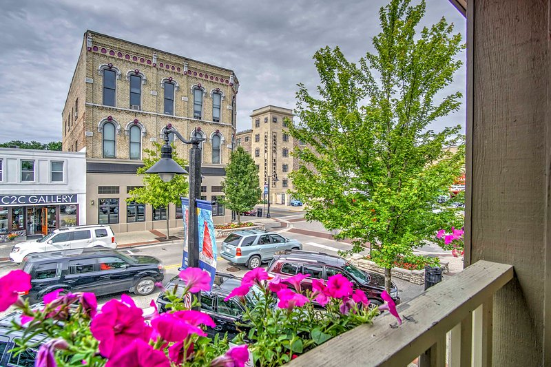 Bask in the views of historic downtown Grand Haven from this vacation rental.