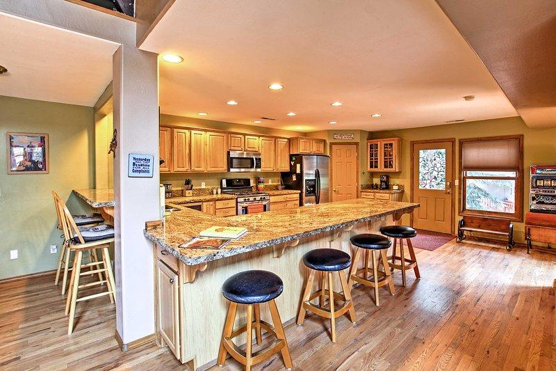 Bereiten Sie Ihre Lieblingsrezepte in der Master-Küche, komplett ausgestattet mit allem was Sie benötigen.