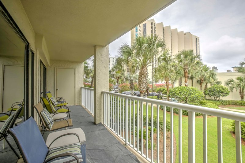 Listen to the sounds of the ocean at this vacation rental condo in Destin!